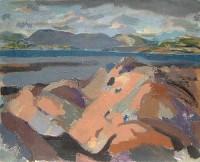 Alexander Galt RGI Looking up Coast of Clyde from Skelmorlie