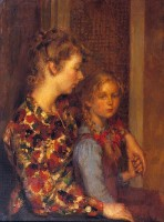Anthony Devas (1911-1958) ARA NEAC RP The Artist's Wife and Daughter