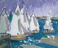 Alexander Milligan Galt (1913-2000) RGI Dinghies at Ardbeg Point
