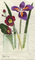 Mary Fedden (1915 - 2012) OBE PPRWA RA Still life with Iris