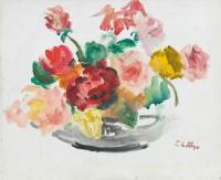 Paul Maze Flowers in a Glass Vase