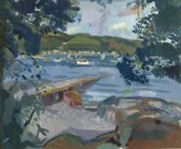Alexander Galt Purple Jetty, Pink Boat