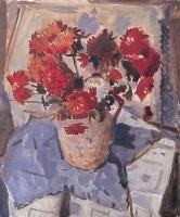 Alexander Milligan Galt (1913-2000) RGI Red Chrysanthemum