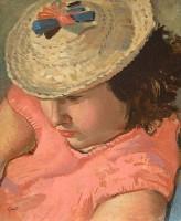 Alexander Galt RGI (1913-2000) Girl in a Straw Hat Study