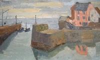 Margrete Marks (1899-1990) Harbour Entrance Cornwall