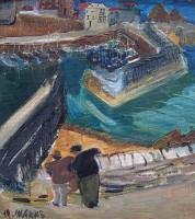 Margrete Marks (1899-1990) Harbour from Polkirk Hill