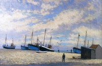 Hugh Boycott Brown (1909-1990) RSMA Beach at Hastings