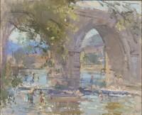 John Martin Under the Bridge at Roquebrun