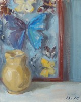 Serena Rowe Jug and Caught Butterflies