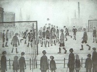 Laurence Stephen Lowry (1887-1976) LG NS RA RBA Football Match