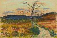 Paul Maze DCM MM (1887-1979) Sunset West Sussex