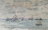 Paul Maze DCM MM (1887-1979) The Fleet Review