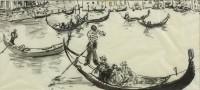 Paul Maze DCM MM (1887-1979) Gondolas