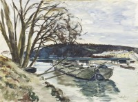 Paul Maze River Barge, Long Island