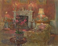Susan Ryder RP NEAC Morning Room with Orchid