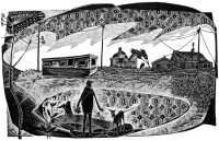 Neil Bousfield A Happisburgh Caravan (Black and White Edition)