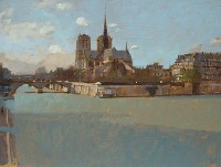David Sawyer RBA Notre Dame from the Left Bank