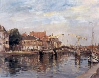 Edward Seago (1910-1974) RBA RSW Bascule Bridge at Haarlem