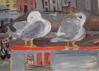Margrete Marks (1899-1990) Seagulls, Mevagissey