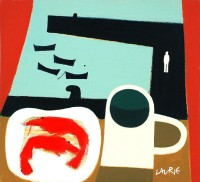Simon Laurie RSW RGI Shrimps and Tea