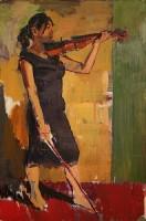 Luke Martineau Study for Celia with a Violin