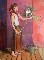 Luke Martineau Tying a Bouquet, Study