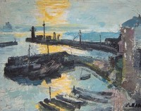 Margrete Marks (1899-1990) The Harbour Newlyn