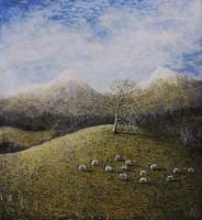 Andrew Scott George Thirteen Sheep, Highland