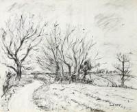 Paul Maze Trees in Winter