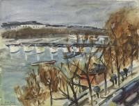 Paul Maze A Tug on The Seine