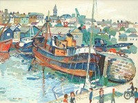 Fred Yates (1922-2008) The Harbour Penzance