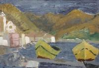 Margrete Marks (1899-1990) Yellow Boats, Puerto de la Selva